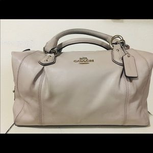 Beige Coach Designer Bag